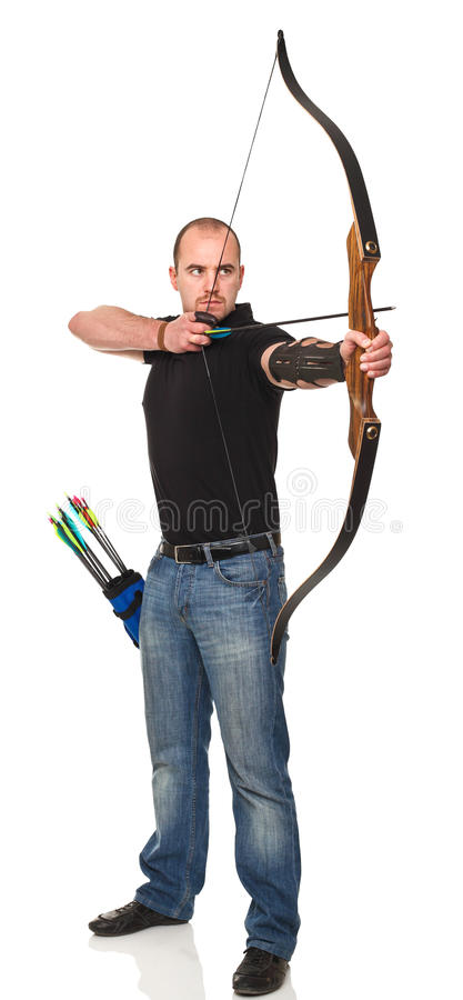 Man with bow royalty free stock photos