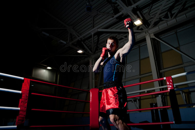 Man boxing in gym royalty free stock images
