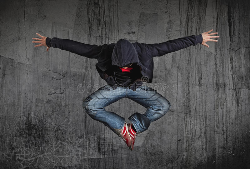 819 Young Man Break Dancing On Electricity Light Background with 2 Filters