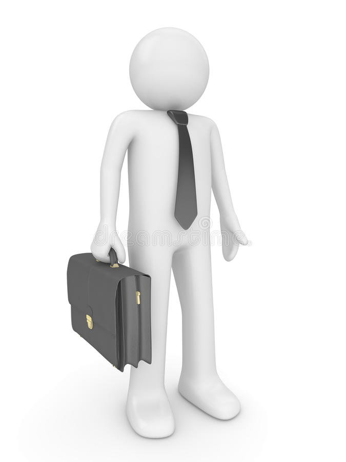 Man with briefcase 2 stock image