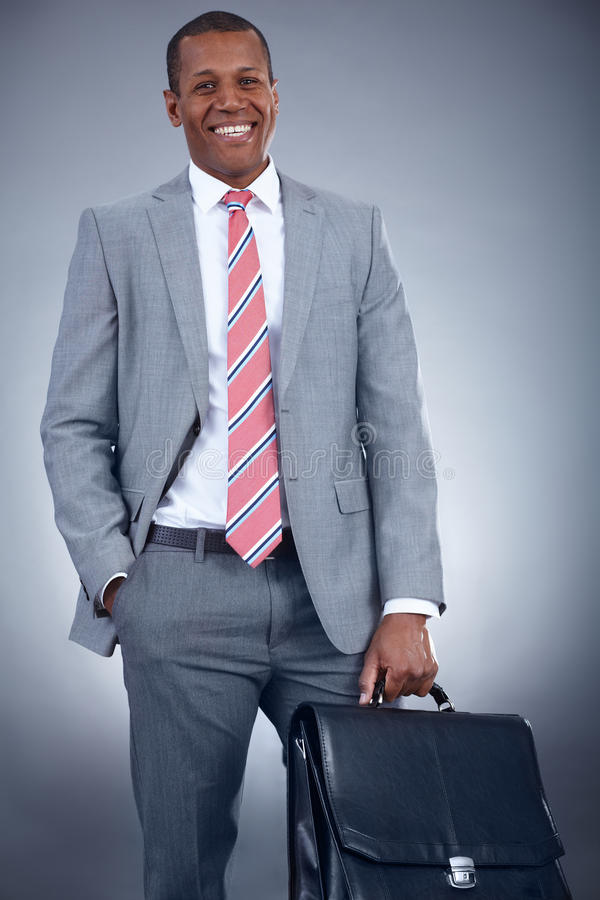 Man with briefcase stock image