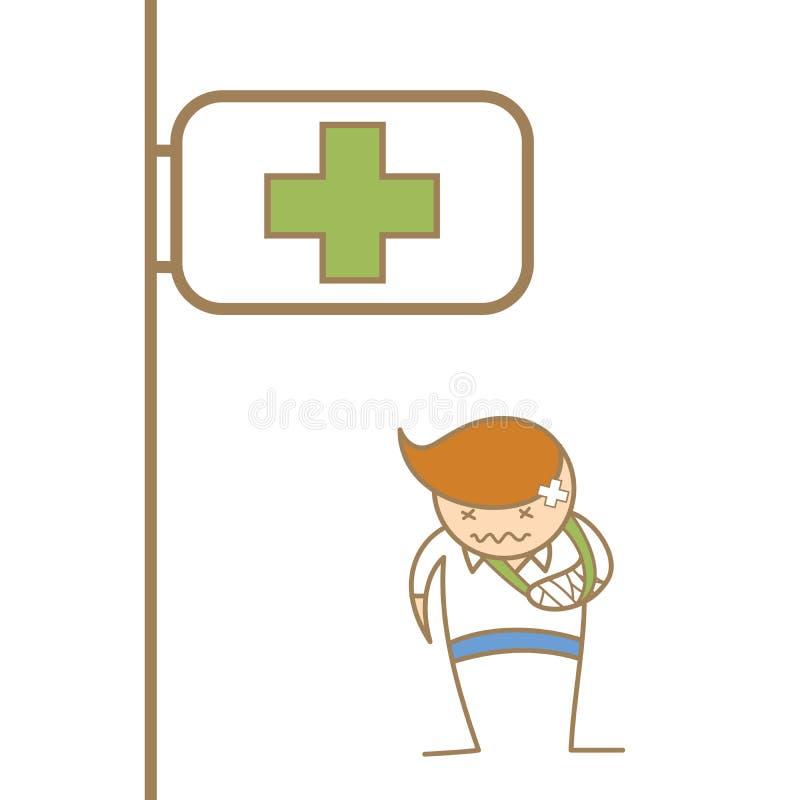 Download Man broken his arm stock vector. Image of hospital, character - 28795725