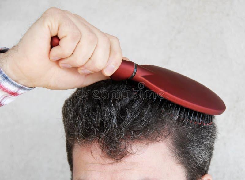 Download Man brushing hair stock photo. Image of brush, haircut - 8846184