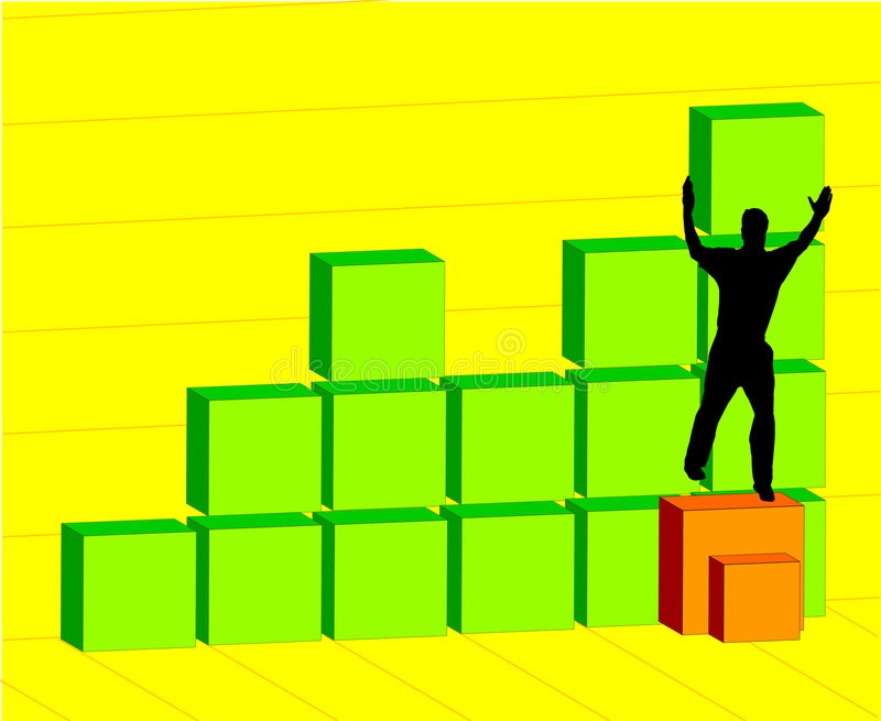 Download Man building chart stock illustration. Image of profit - 504870