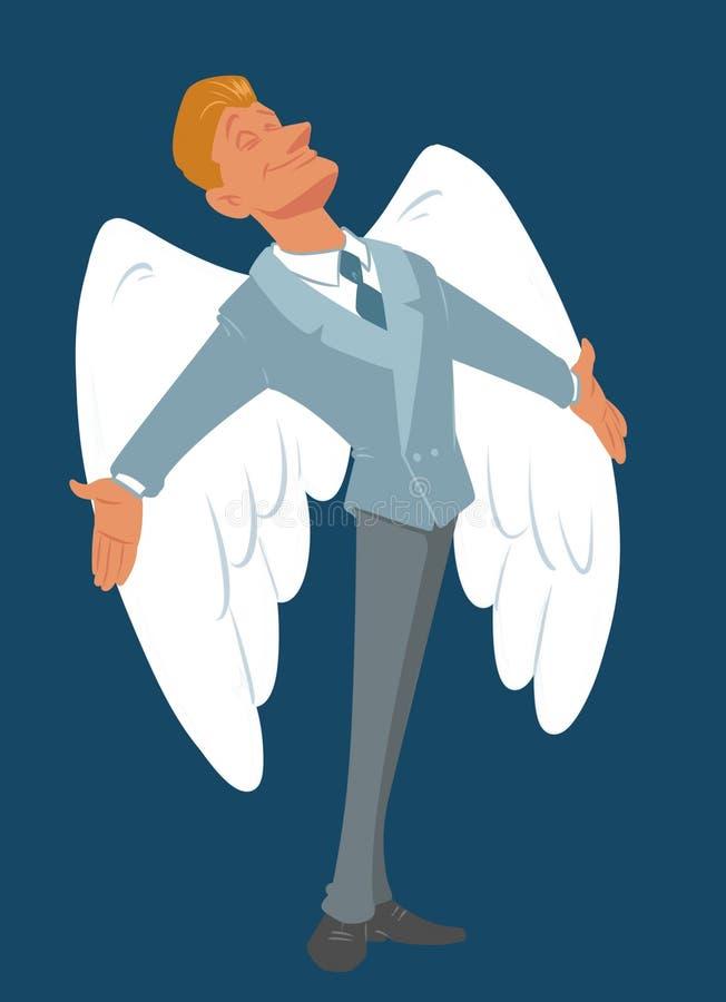 Man business angel success problem solving stock illustration