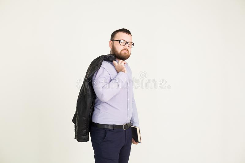 A man in business attire on a white background. 1 stock photography