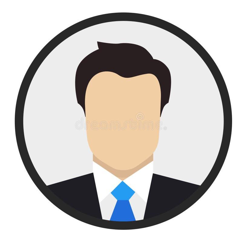 Man Business Flat Design Icon stock photos