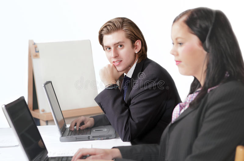 Man in business meeting stock images