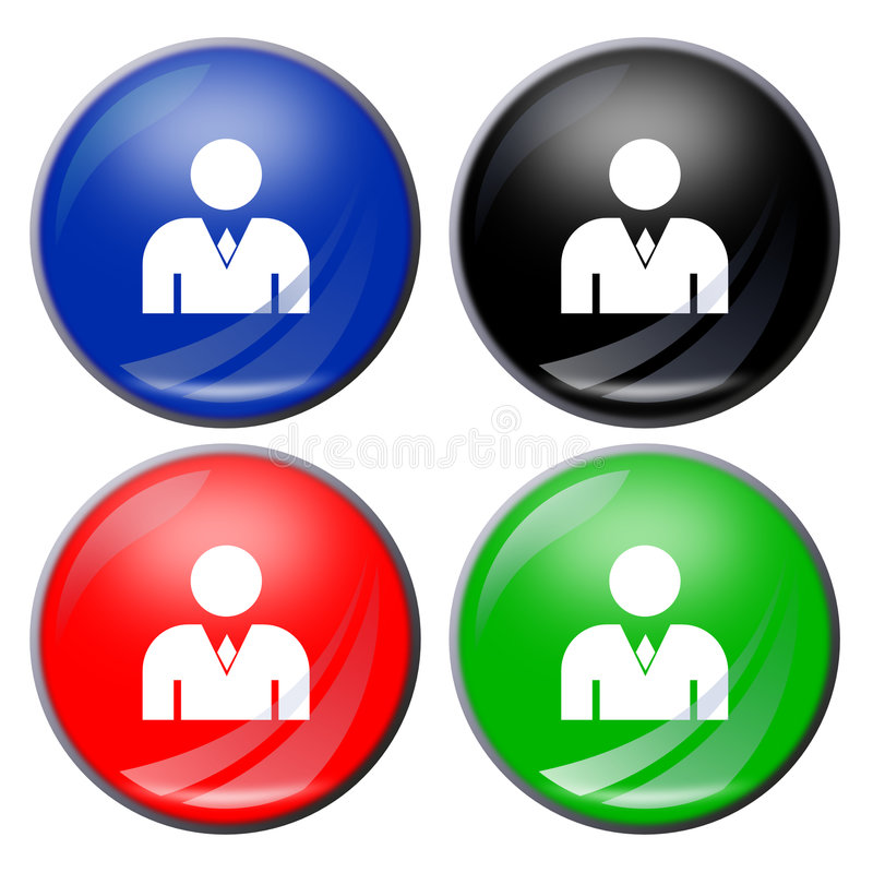 Man Button Stock Photography