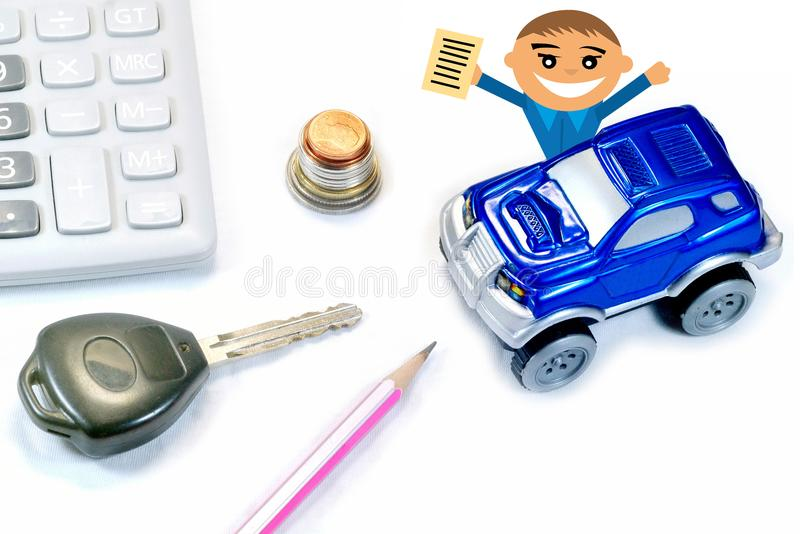 Man Buy Sell Rent a Car for Business Concept royalty free stock photos