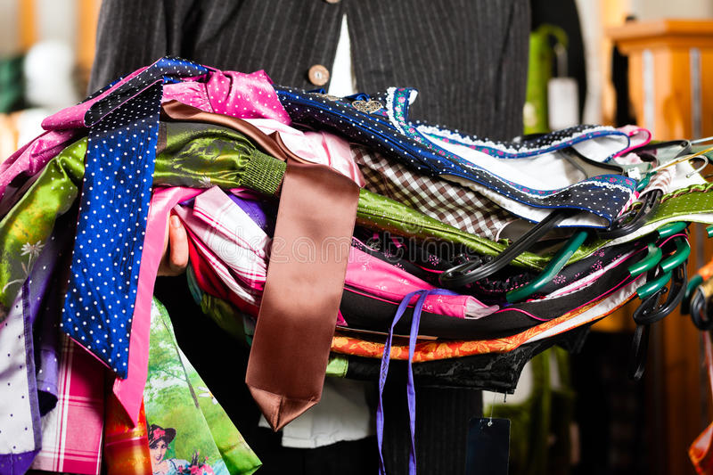 Download Man Is Buying Tracht Or Dirndl In A Shop Royalty Free Stock Images - Image: 24769839