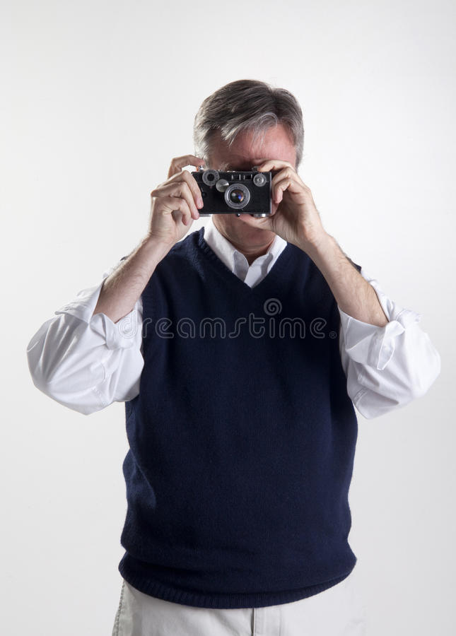 Download Man with a camera stock image. Image of close, head, casual - 11084017