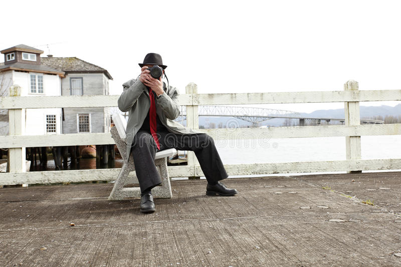 Man with camera stock images