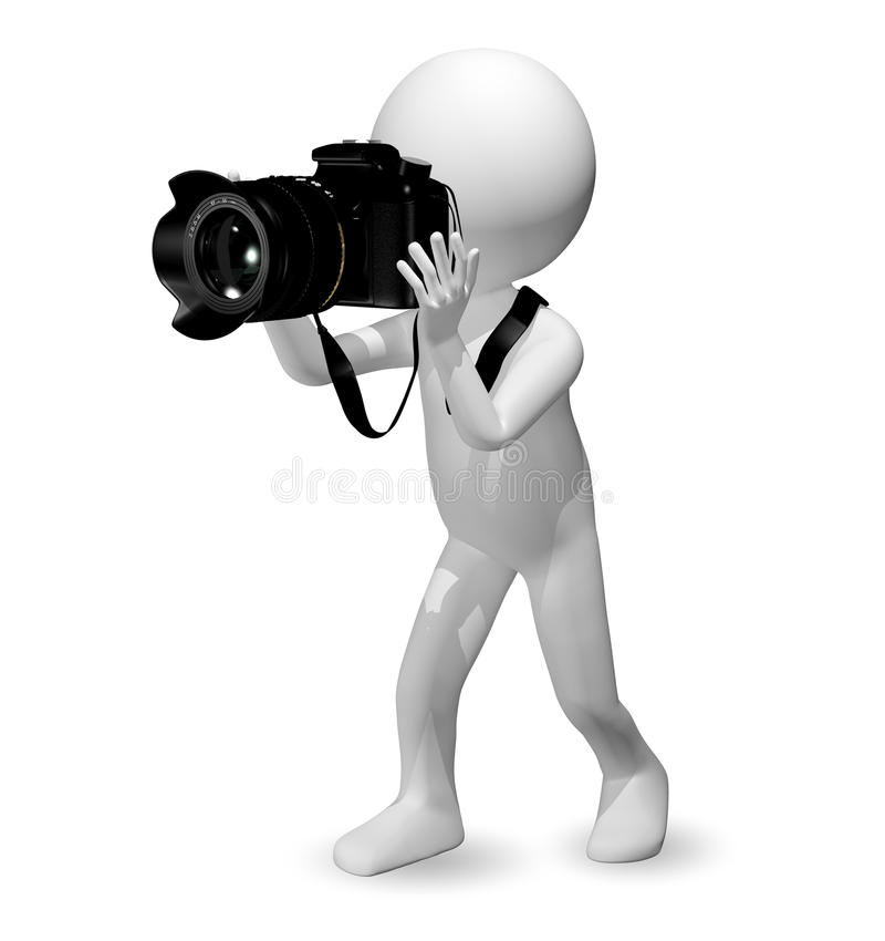 Download Man with a camera stock illustration. Image of glare - 37008670