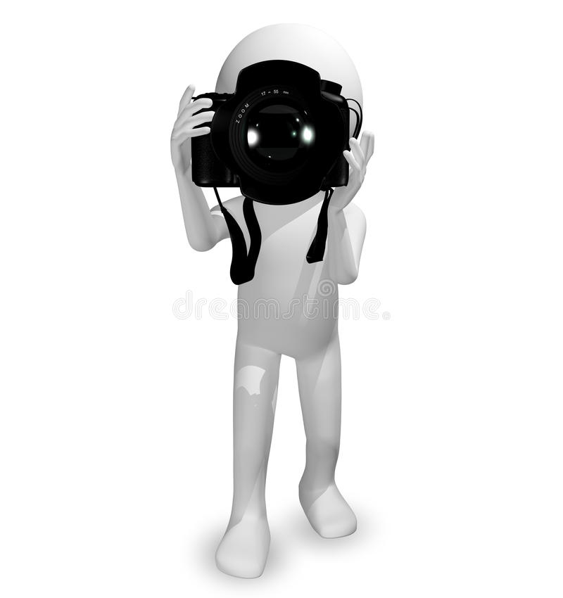 Download Man with a camera stock illustration. Image of photography - 37008740