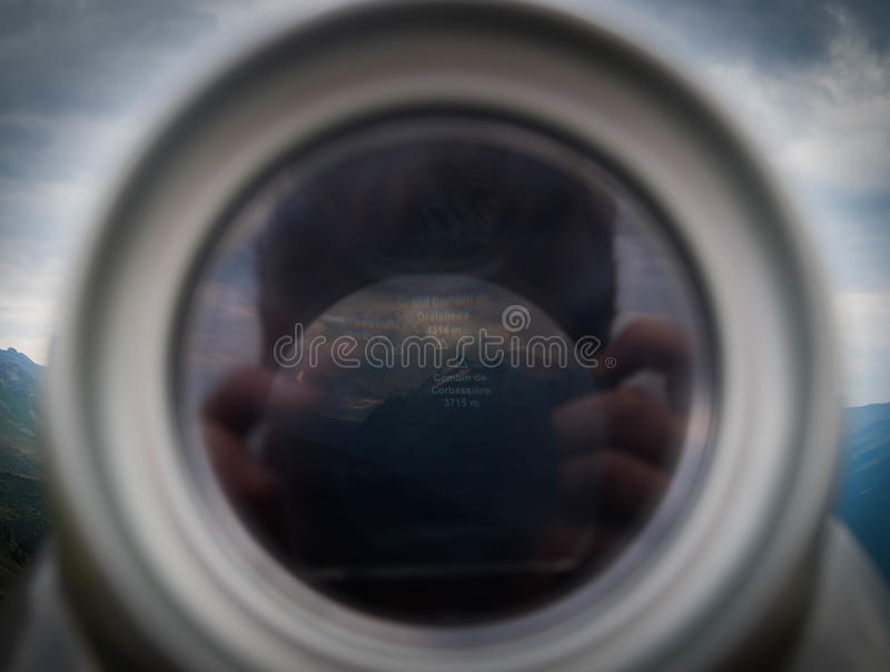 Man And Camera Reflecting In Glass Free Public Domain Cc0 Image