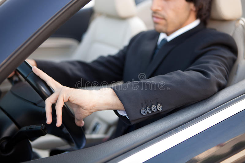 Man in car royalty free stock image