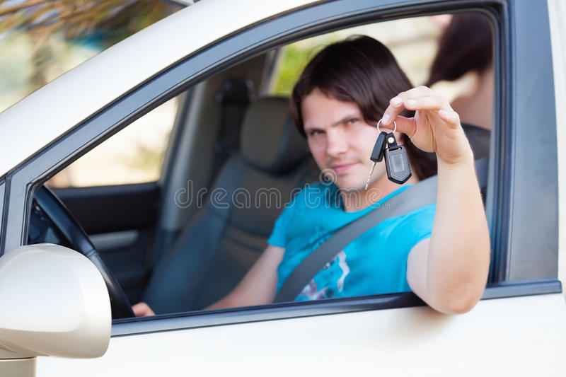 Download Man in the car stock photo. Image of people, hold, driving - 25584204