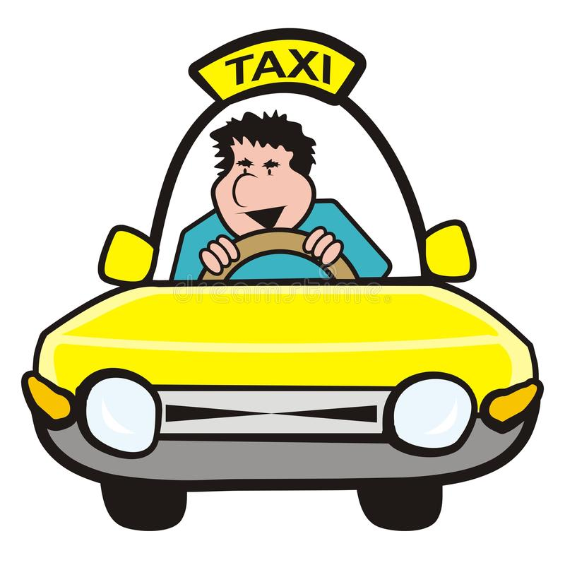 man in the car-taxi royalty free stock photography - image: 31700747