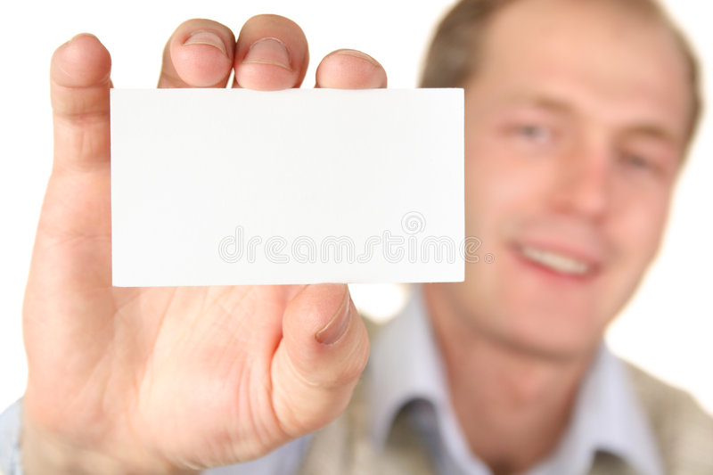 Man with card royalty free stock photography