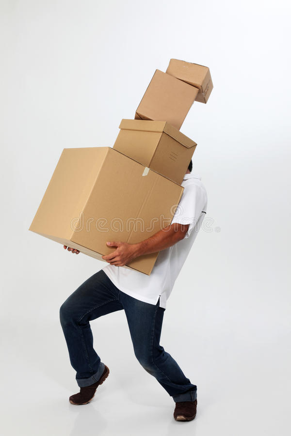 Download Man Carry Boxes Stock Images - Image: 11400094