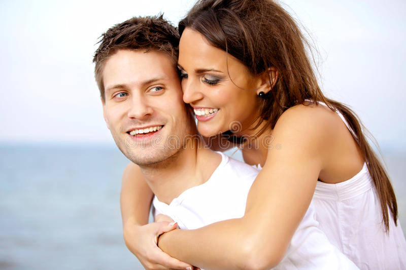 Download Man Carrying His Girlfriend On His Back Stock Image - Image of embracing, enjoying: 25973397