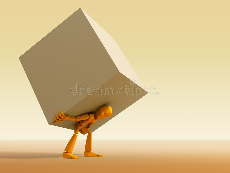 Man carrying the load vector illustration