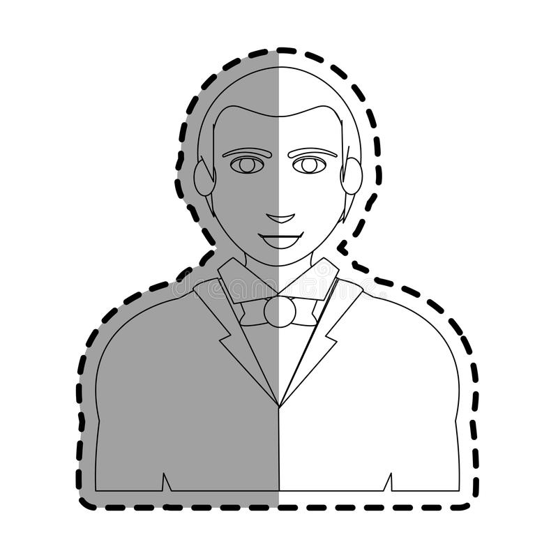 Man cartoon icon. Man wearing casual clothes over white background. vector illustration vector illustration