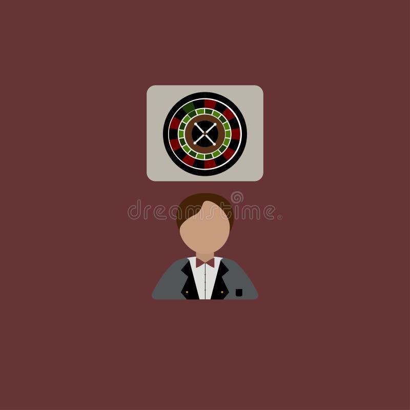 Man casino. Cash. Vector illustration. EPS 10 vector illustration
