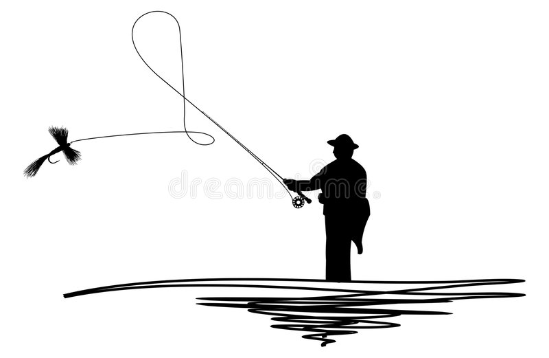 Man Casting A Line Stock Image