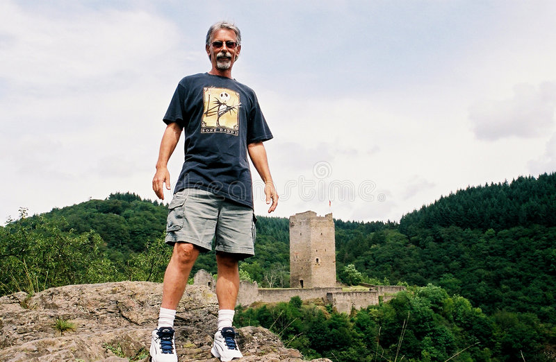 Download Man On Castle Hill Royalty Free Stock Images - Image: 203489