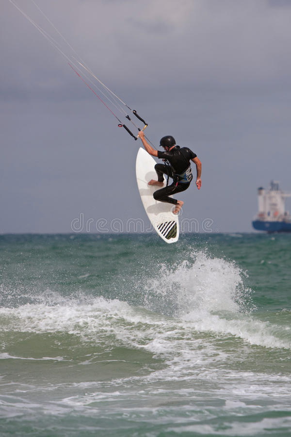 Download Man Catches Big Air Parasail Surfing In Florida Editorial Photography - Image: 37952822