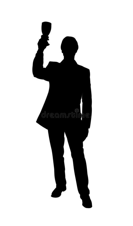 Download Man celebrating stock illustration. Image of glass, illustration - 4259368
