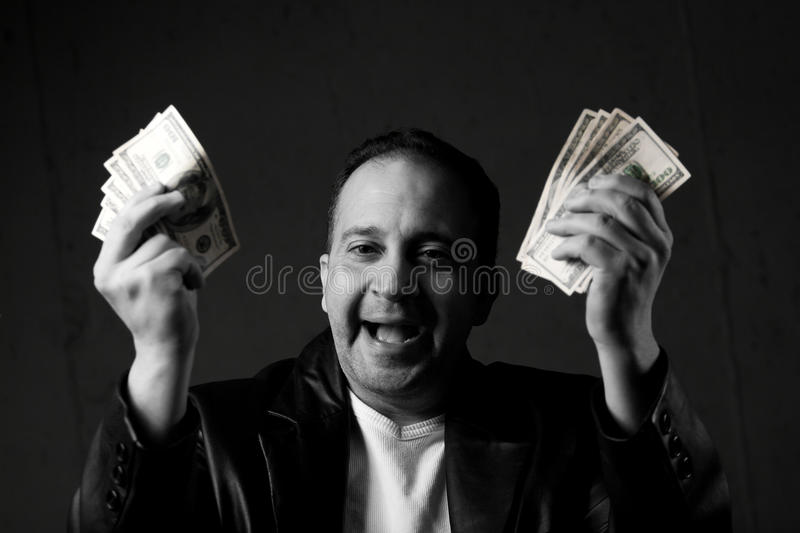 Download Man Celebrating With Cash Stock Photography - Image: 13369692