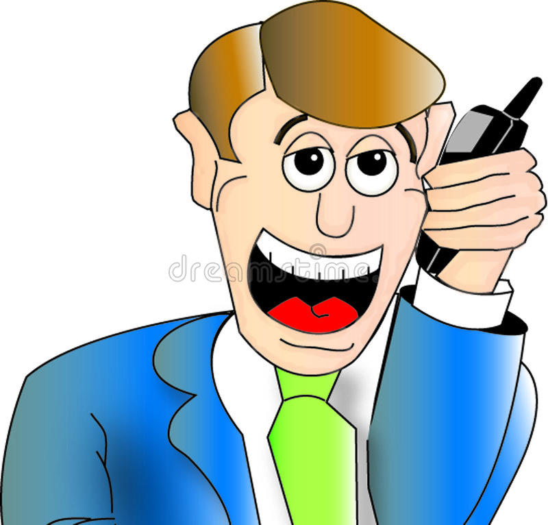 Download Man on cell phone stock illustration. Illustration of illustration - 113350