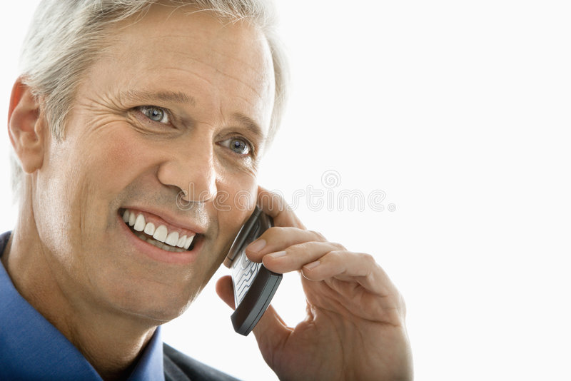 Download Man On Cell Phone. Royalty Free Stock Photos - Image: 4245788