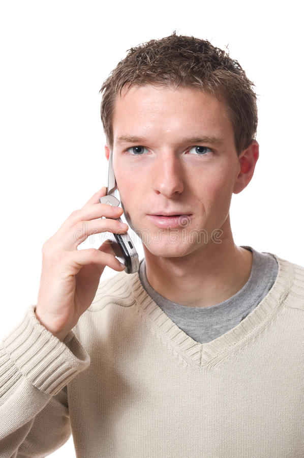 Download Man with cellphone stock photo. Image of hold, young - 17485342