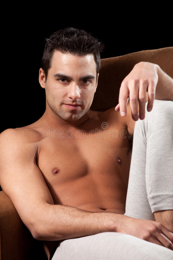 Man In Chair Royalty Free Stock Photo