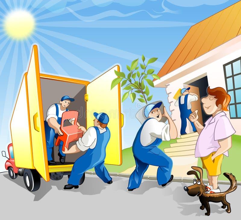 Download Man change the residence stock illustration. Image of owner - 2663849