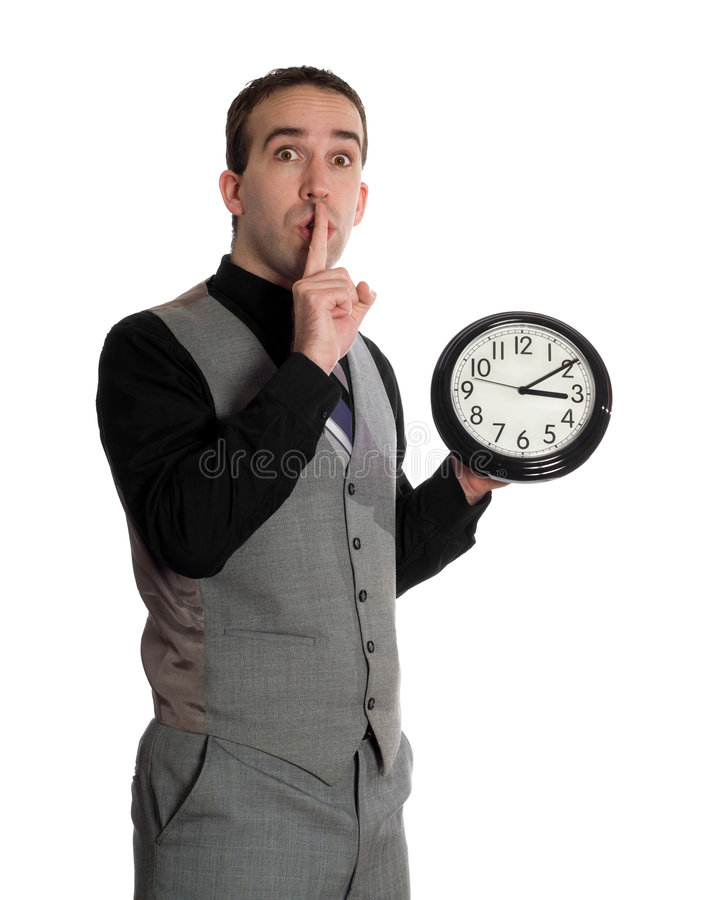 Man Changing Deadline royalty free stock photography