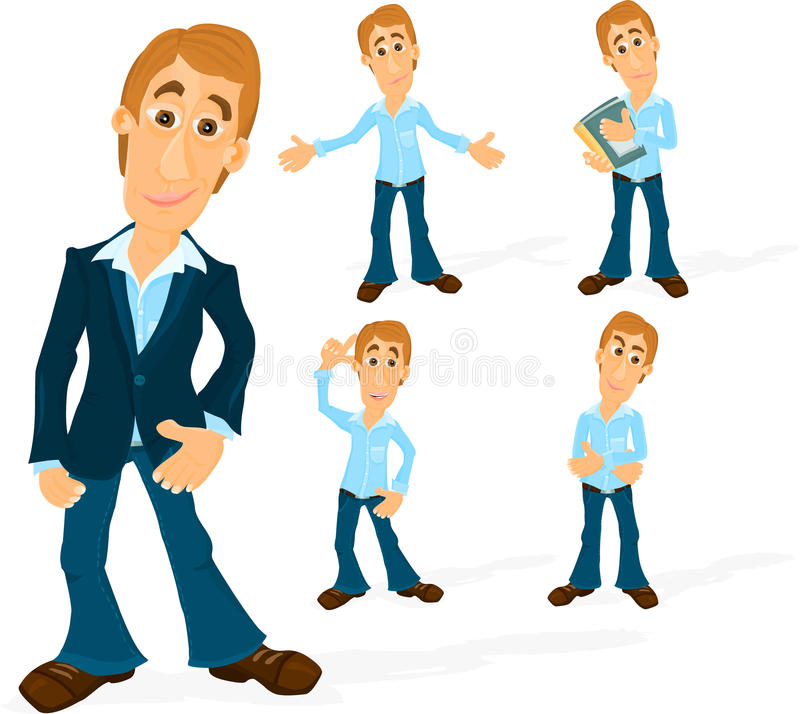 Download Man character 02 stock vector. Image of image, male, background - 19416526
