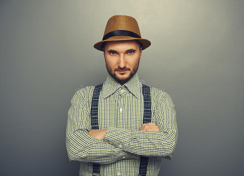 Man in checked shirt royalty free stock photos