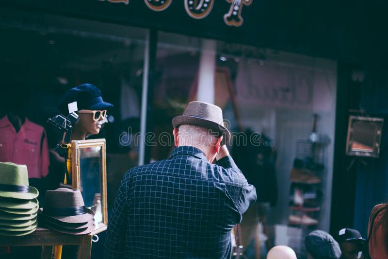 Man In Checkered Long Sleeve And Fedora Hat Free Public Domain Cc0 Image