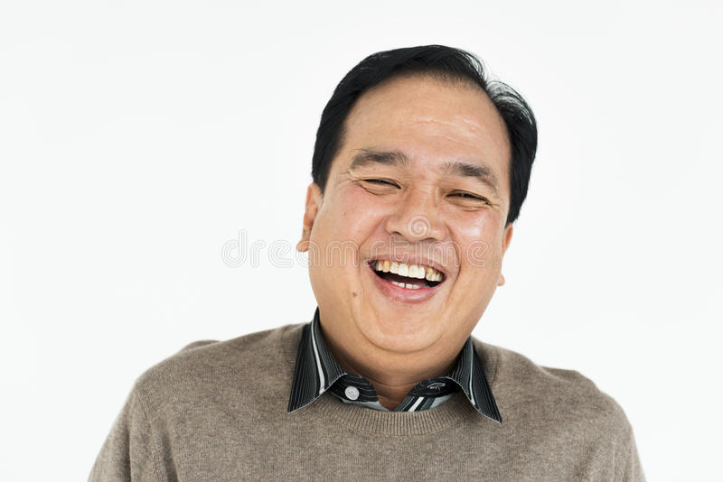 Man Cheerful Studio Portrait Concept royalty free stock photos
