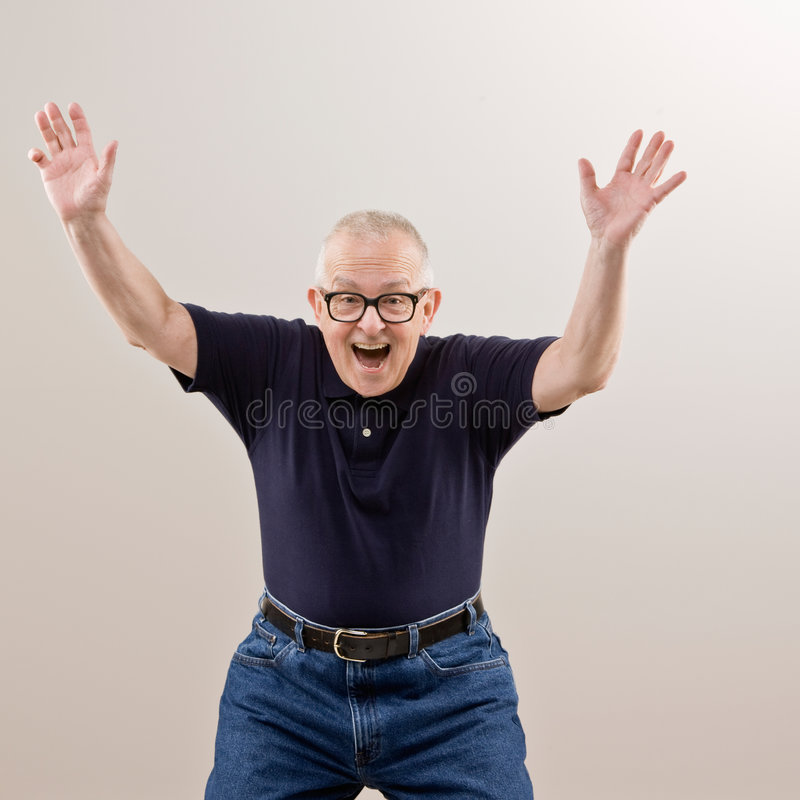 Download Man Cheering And Celebrating His Success Stock Image - Image: 6599325