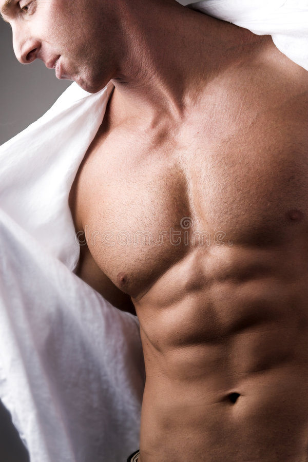 Man chest royalty free stock images