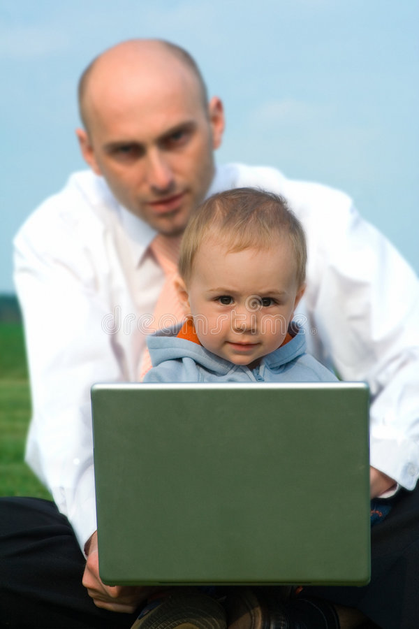 Man and Child royalty free stock image
