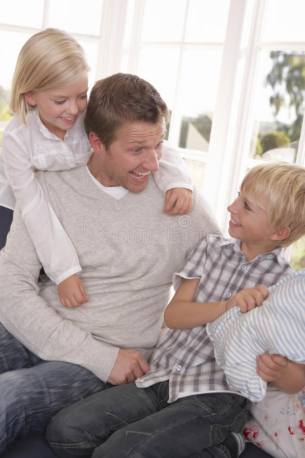 Download Man And Children Play Together Stock Photo - Image: 17487696