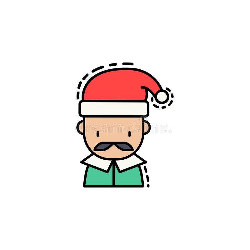 Man christmas colored icon. Element of new year avatars icon for mobile concept and web apps. Colored Man christmas icon can be us royalty free illustration