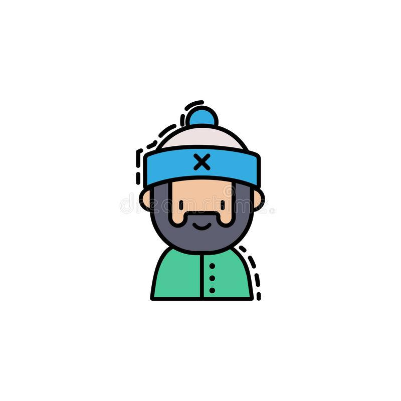 Man christmas colored icon. Element of new year avatars icon for mobile concept and web apps. Colored Man christmas icon can be us vector illustration